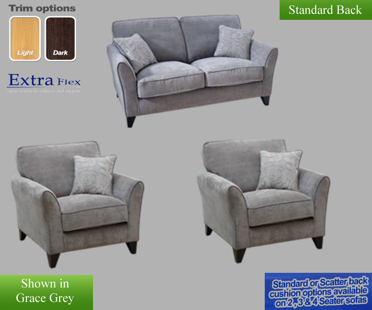 Buoyant Fairfield Plain 2 Seater Sofa and 2 Chairs