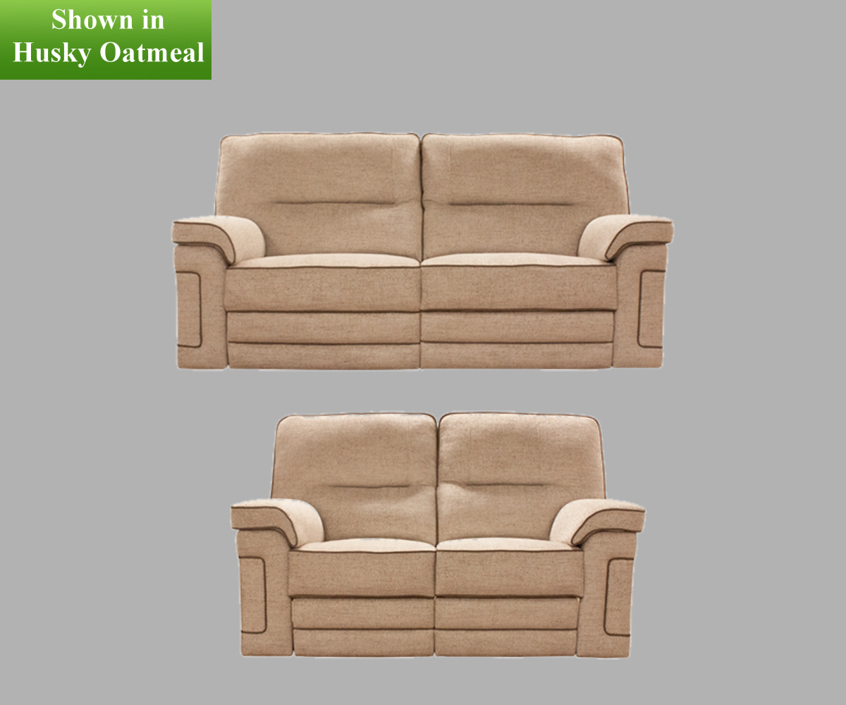 Buoyant Plaza Manual 3 Seater and 2 Seater Reclining Sofas