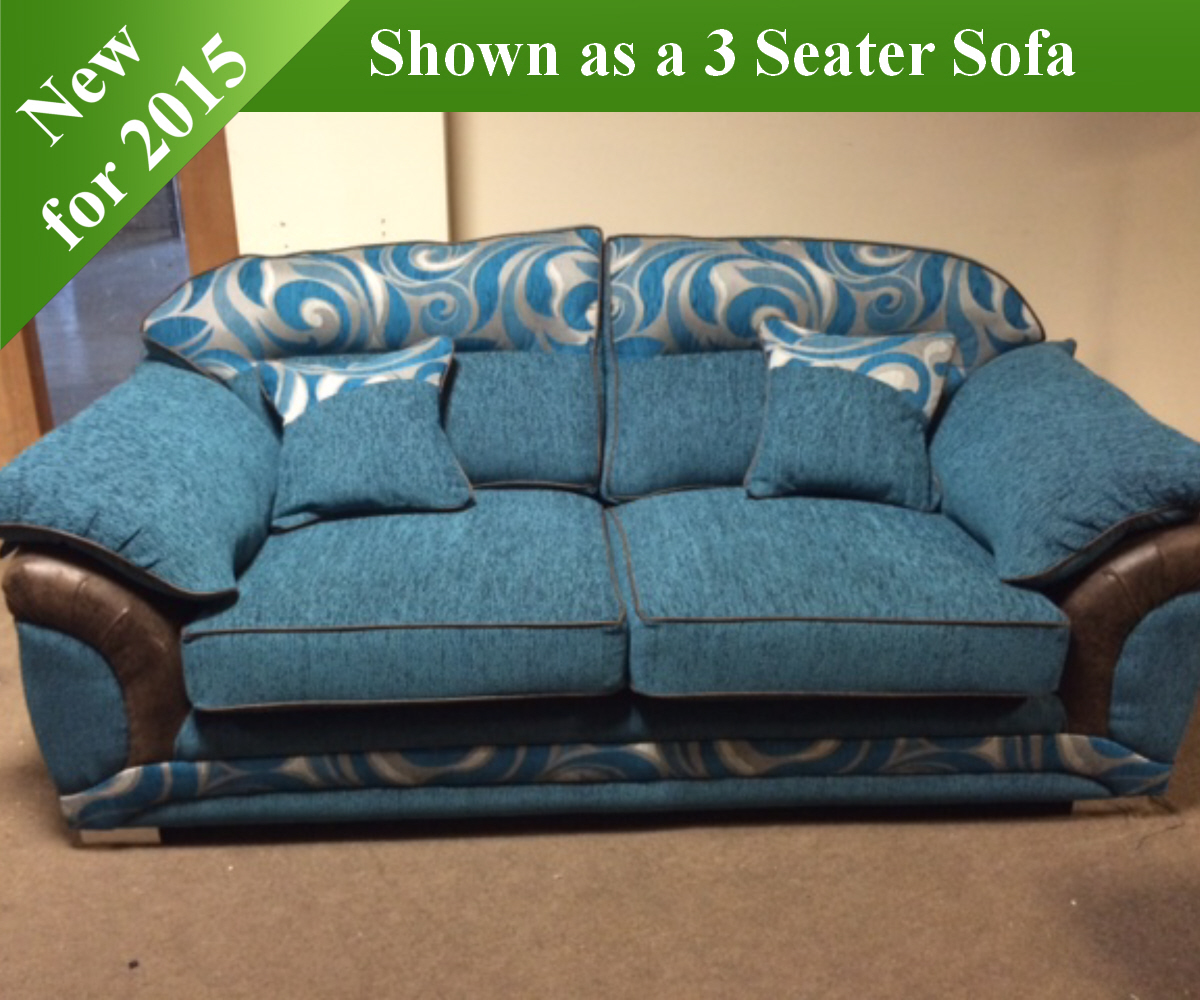 Red Rose Galaxy 3 Seater Sofa