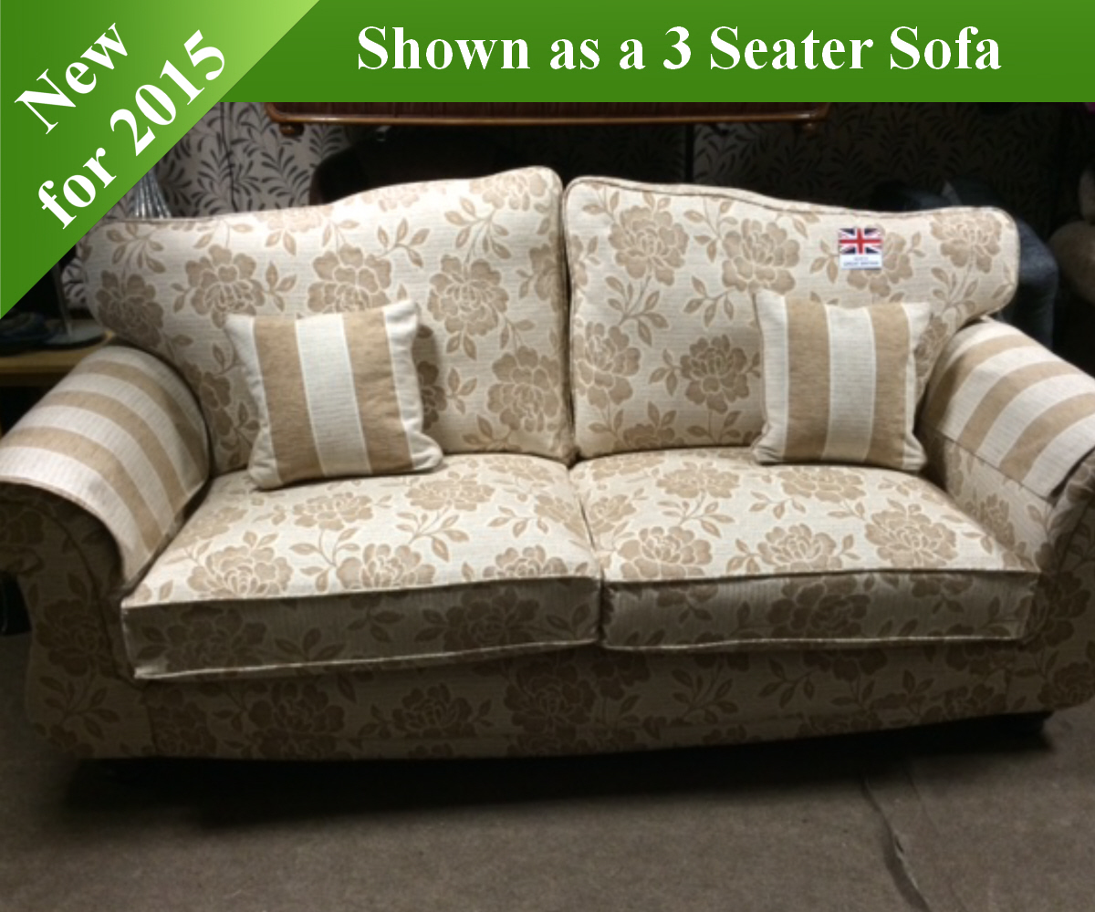 Red Rose Granada 2 Seater Sofa and 2 Chairs
