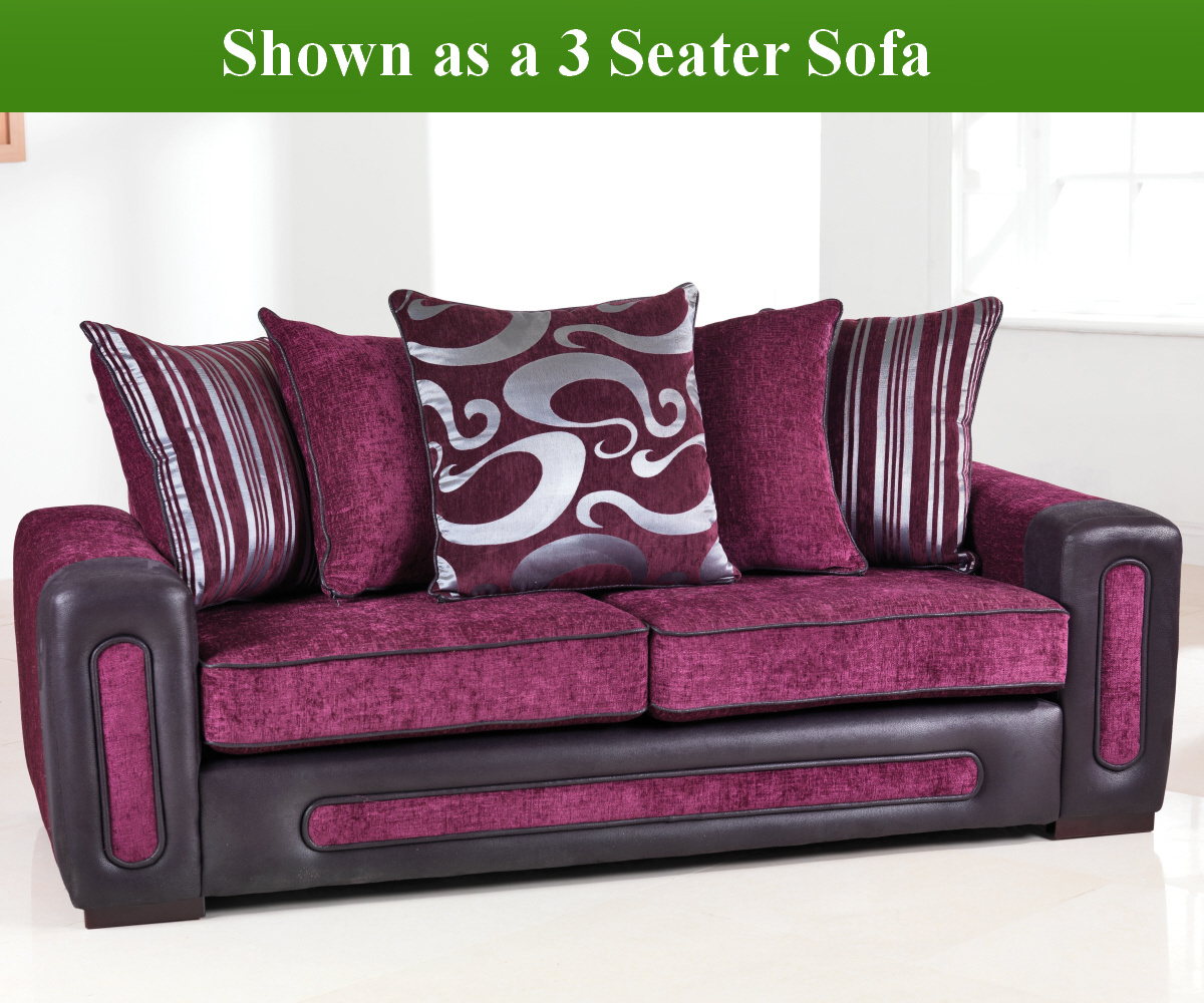 Red Rose Libby 3 Seater Sofa