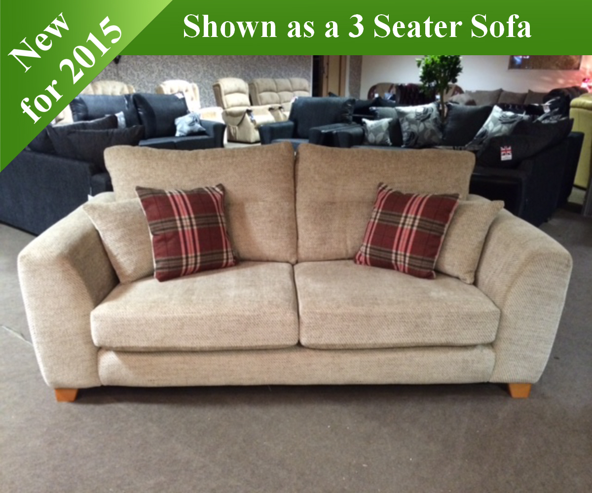 Red Rose Lisburn 2 Seater Sofa and 2 Chairs