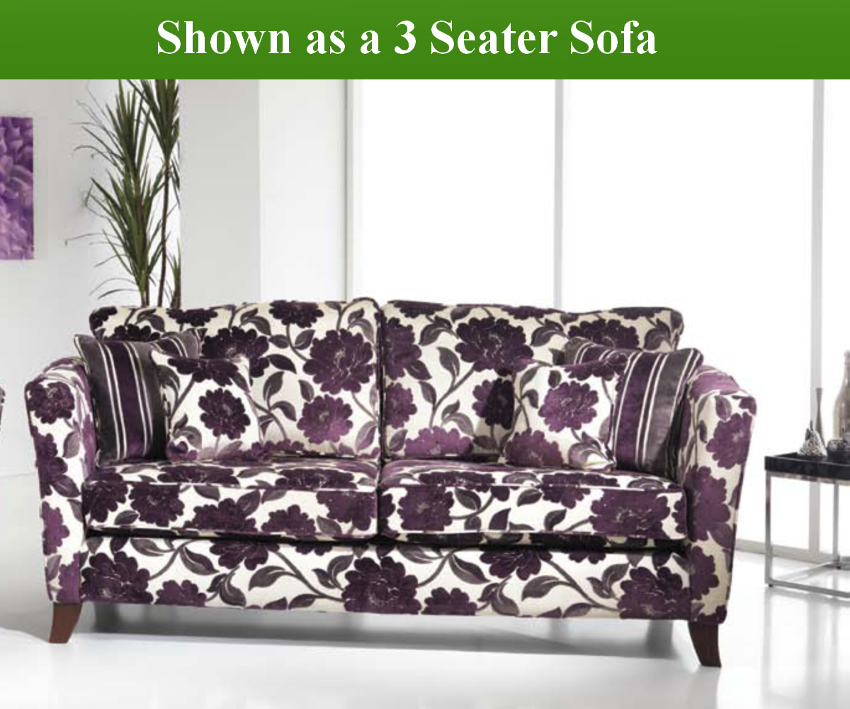 Red Rose Royale 3 Seater Sofa