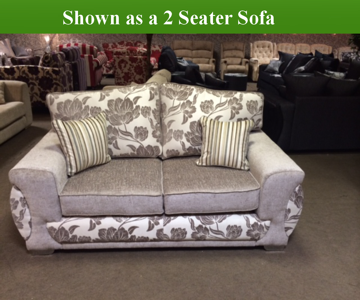 Red Rose Victoria 2 Seater Sofa and 2 Chairs
