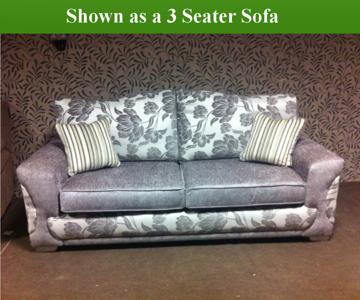 Red Rose Victoria 3 Seater Sofa and 2 Chairs