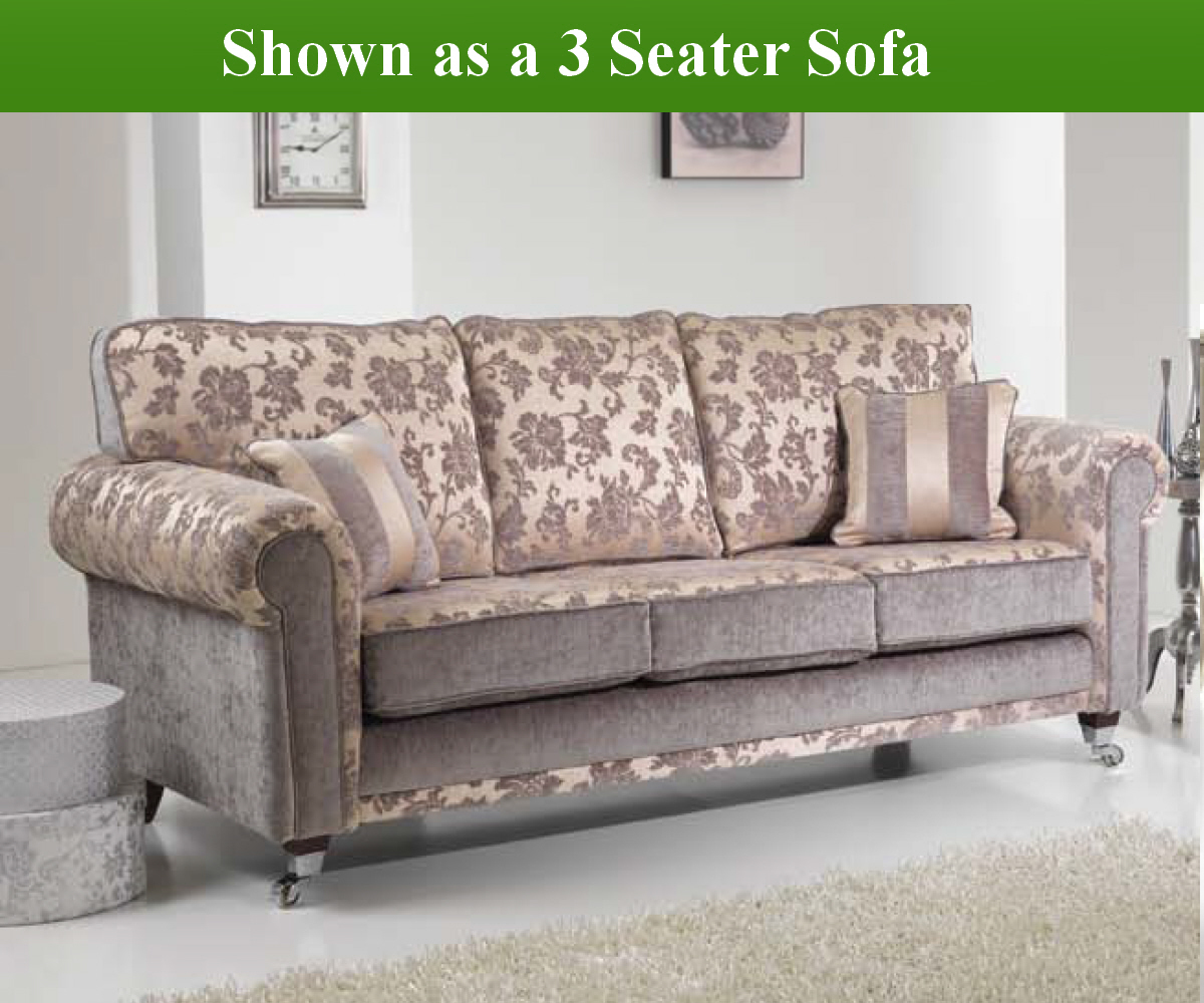 Red Rose Windsor 3 Seater Sofa and 2 Chairs