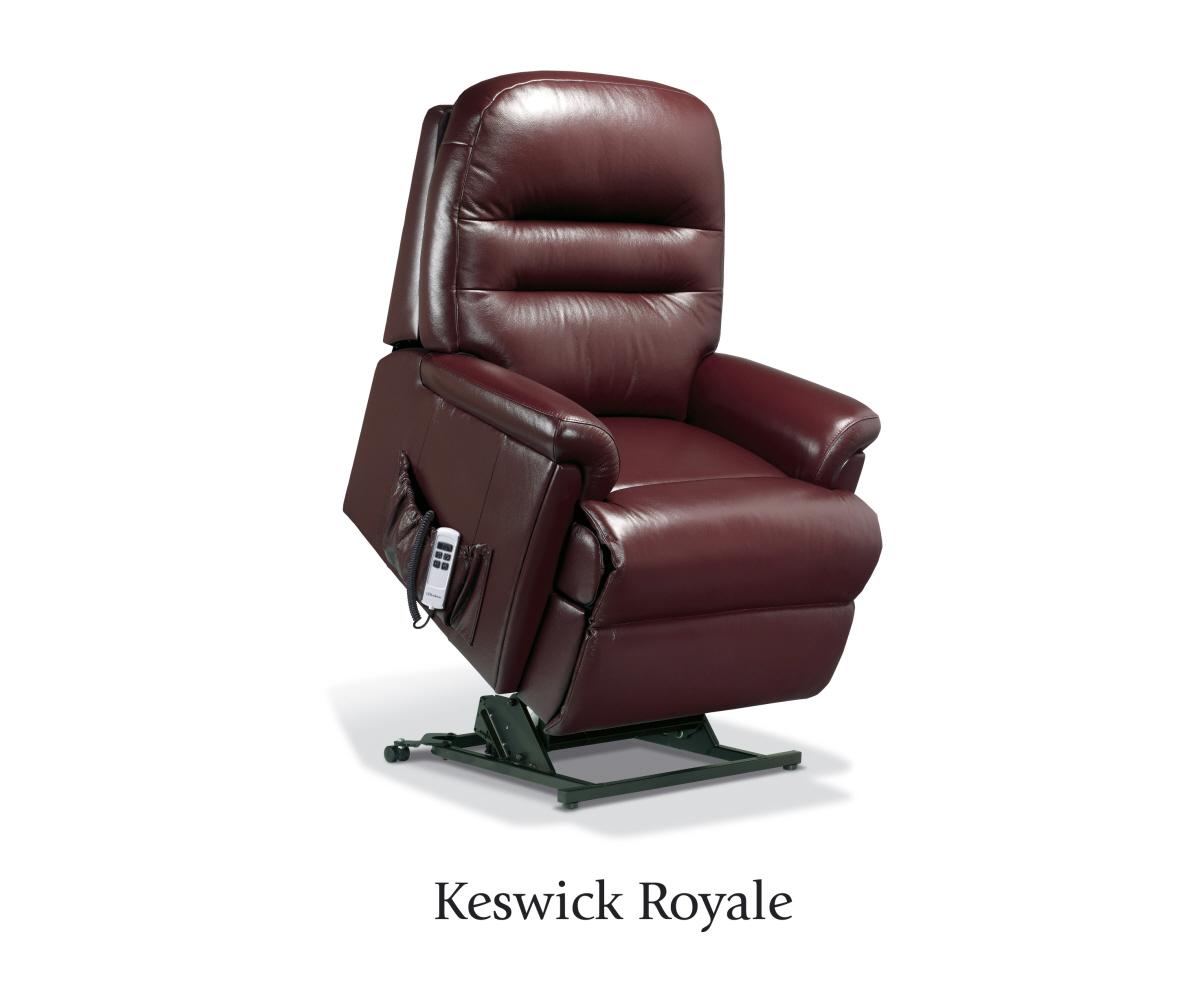 sherborne keswick hide royale lift and tilt recliner single