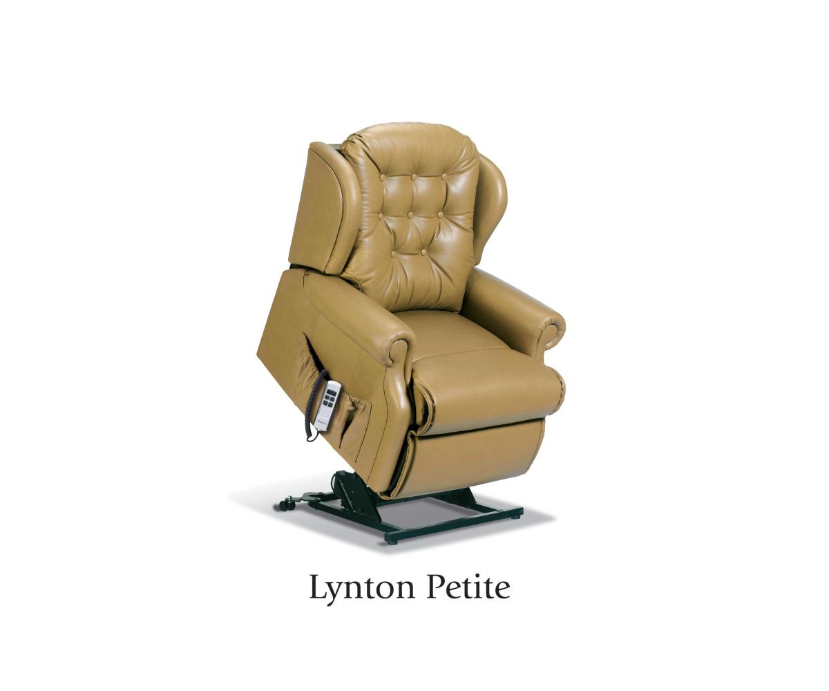 sherborne lynton hide petite lift and tilt recliner single o