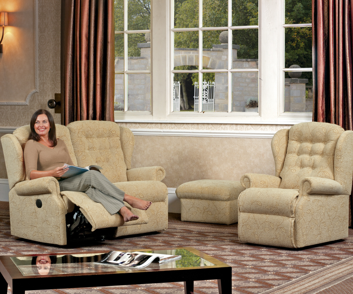 Sherborne Lynton Small Reclining 3 Seater Sofa Manual or Electric Option