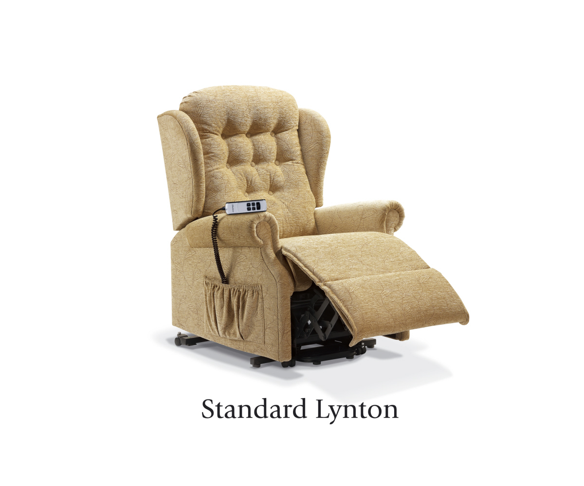 Sherborne Lynton Standard Lift and Tilt Recliner Single or Dual Motor Option Lift and Tilt Arm Chair | RG Cole Furniture Limited