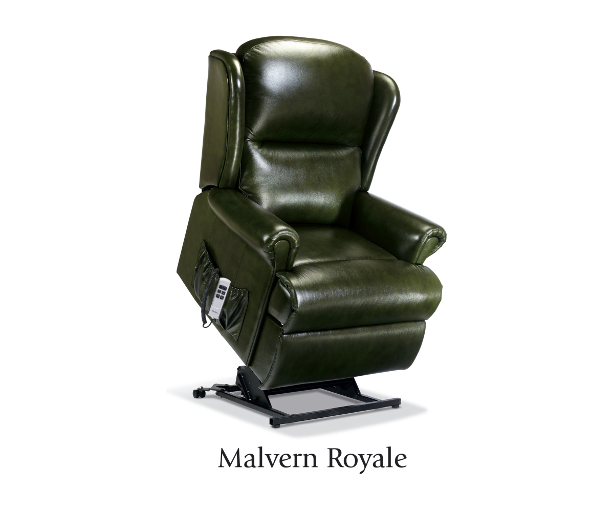 sherborne malvern hide royale lift and tilt recliner single