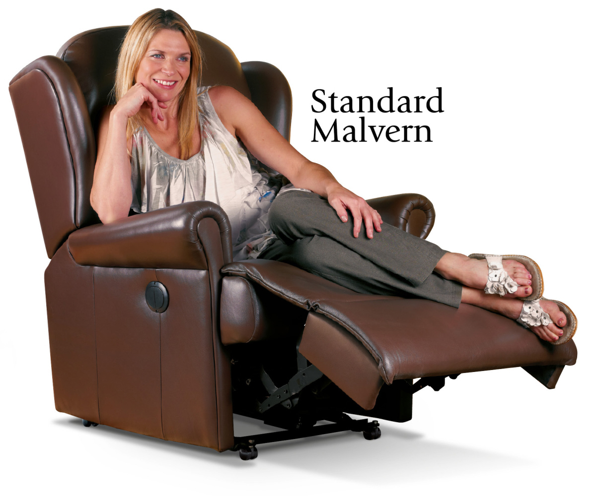 Sherborne Malvern Hide Standard Recliner Chair Manual or Electric Option