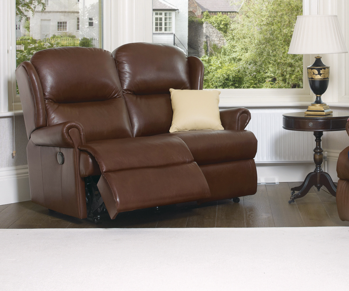 Sherborne Malvern Hide Standard Reclining 2 Seater Sofa Manual or Electric Option