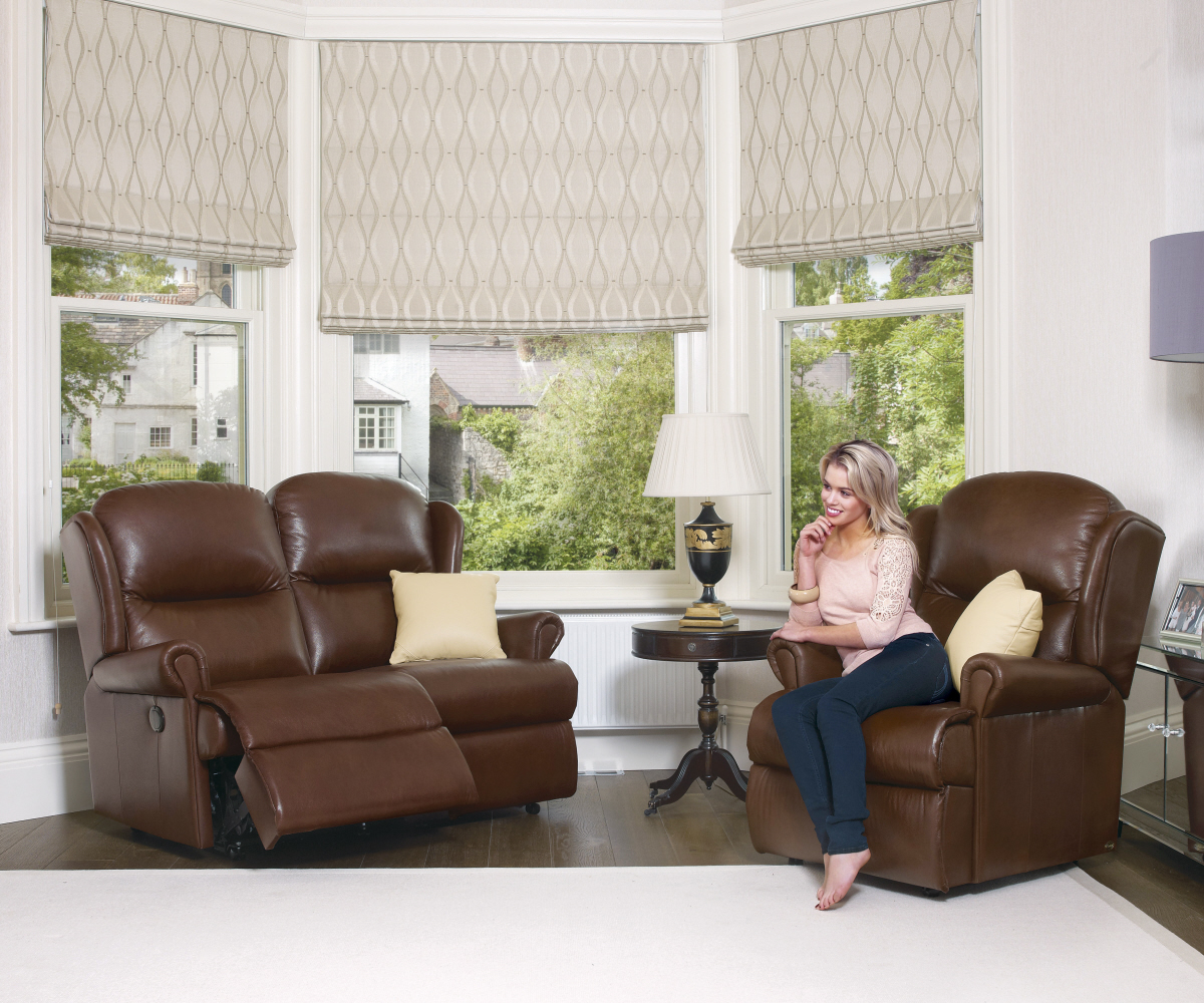Sherborne Malvern Hide Standard Reclining 3 Seater Sofa Manual or Electric Option