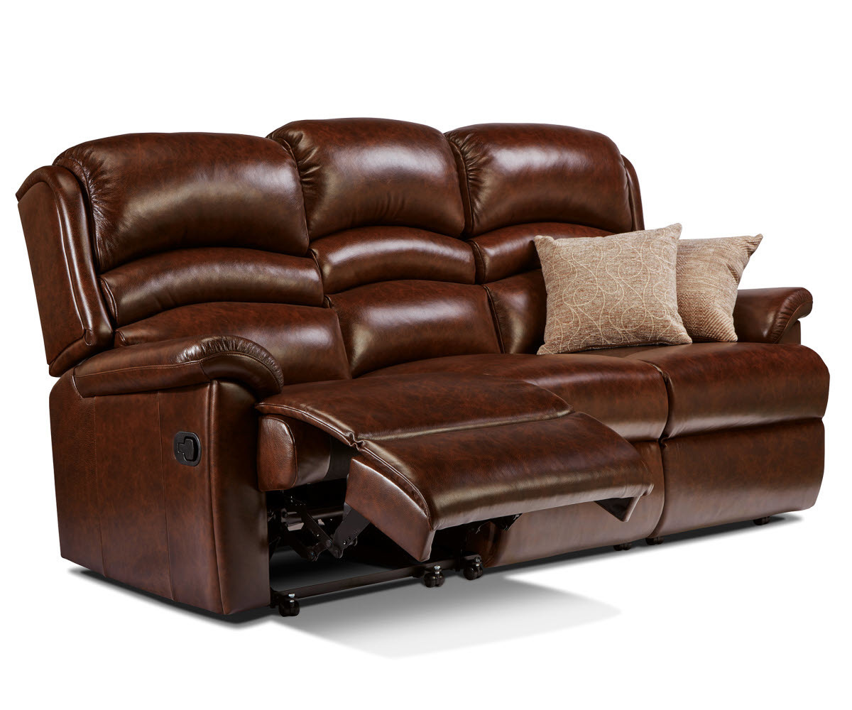 Sherborne Olivia Hide Reclining 3 Seater Sofa Manual Or Electric Option