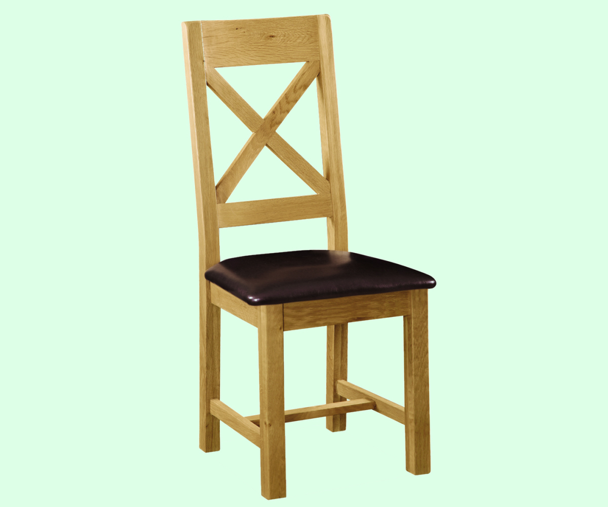 Intotal Great Baddow Cross Back Dining Chair PU Seat