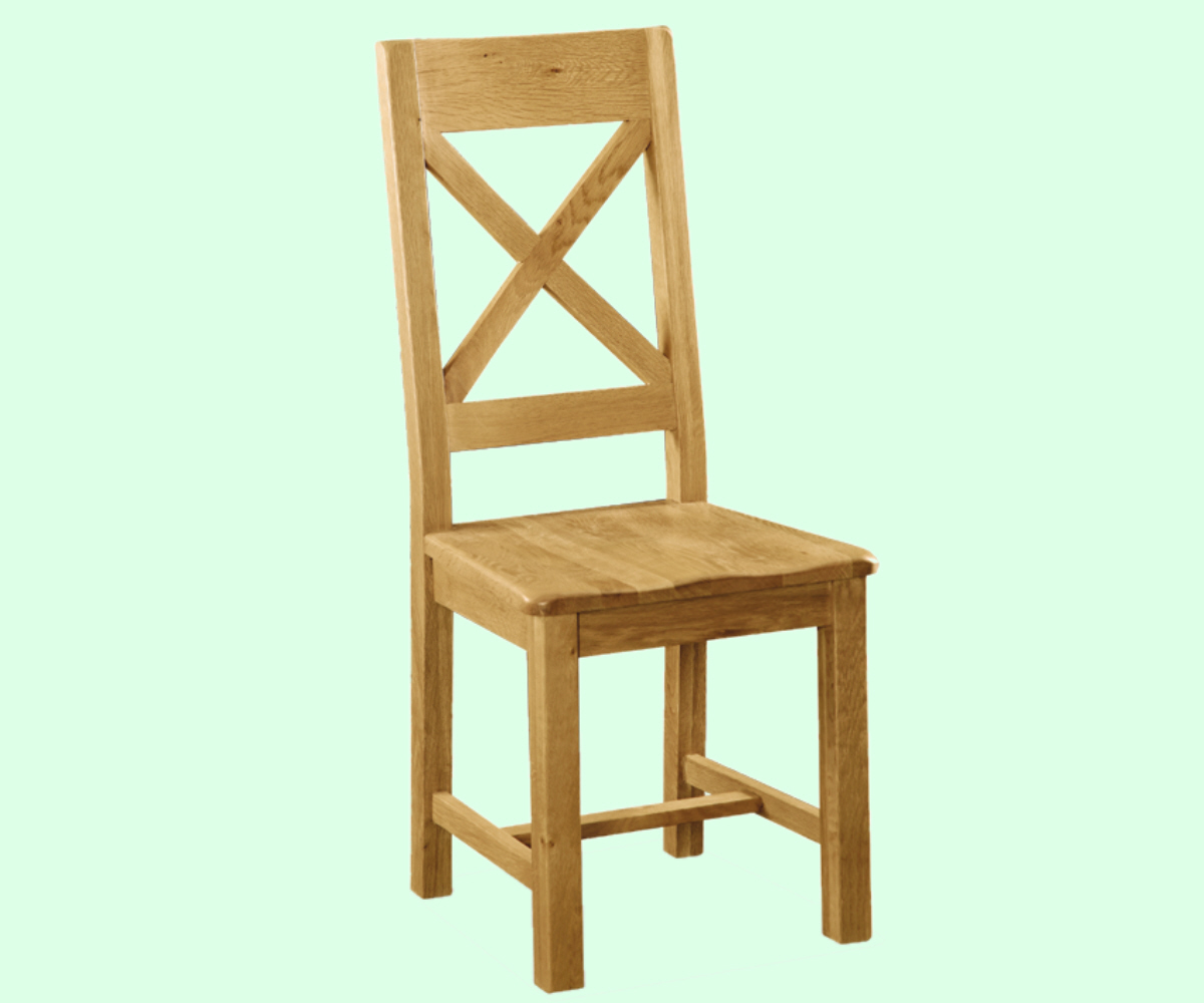 Intotal Great Baddow Cross Back Dining Chair Wood Seat