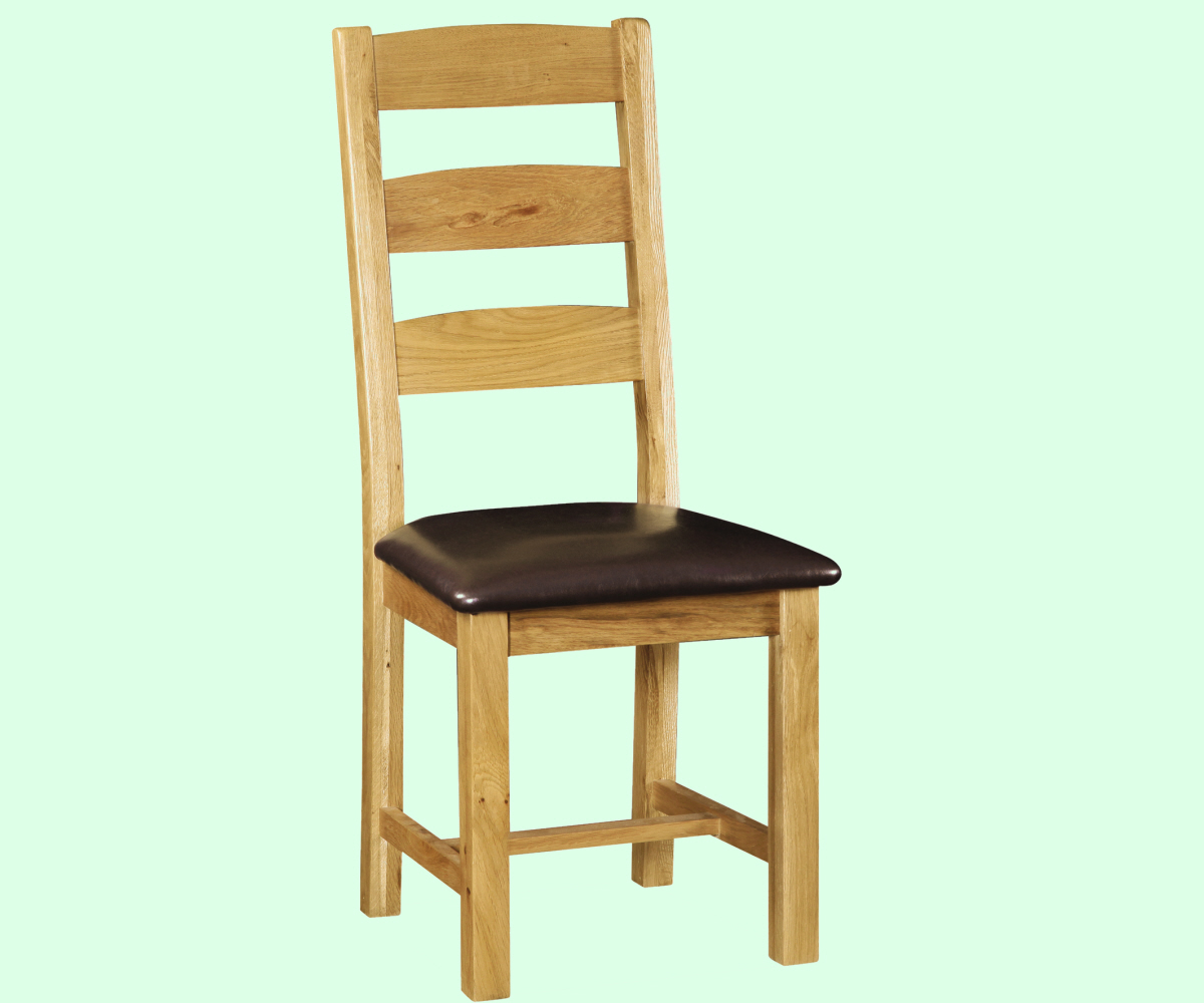 Intotal Great Baddow Slatted Back Dining Chair PU Seat