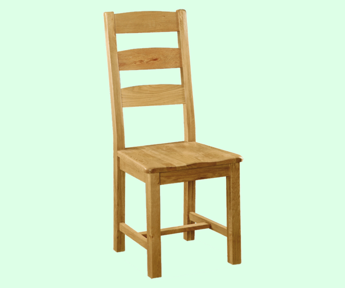 Intotal Great Baddow Slatted Back Dining Chair Wood Seat