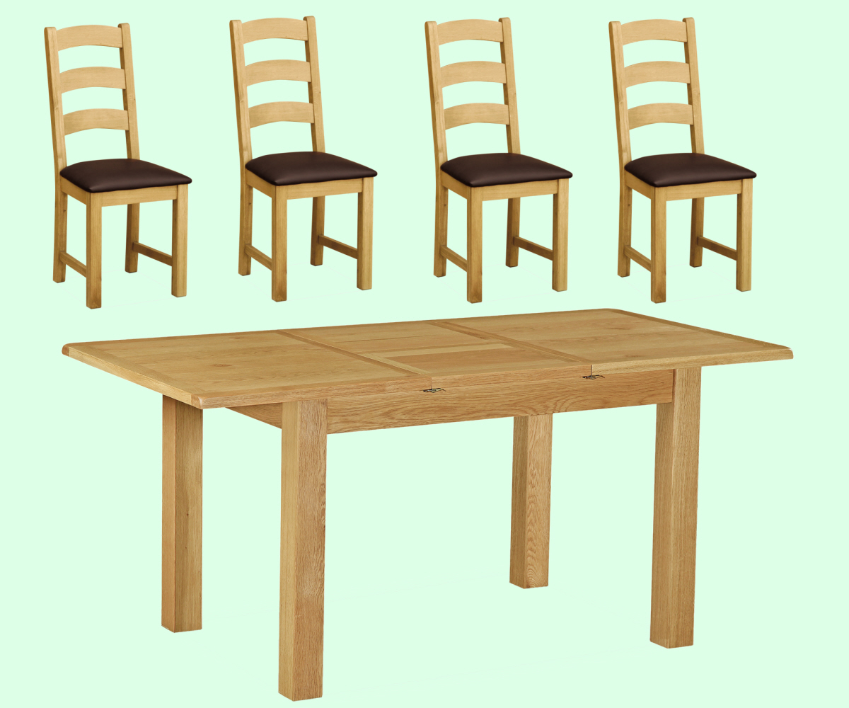 Intotal Little Baddow Compact Dining Set with 4 Chairs