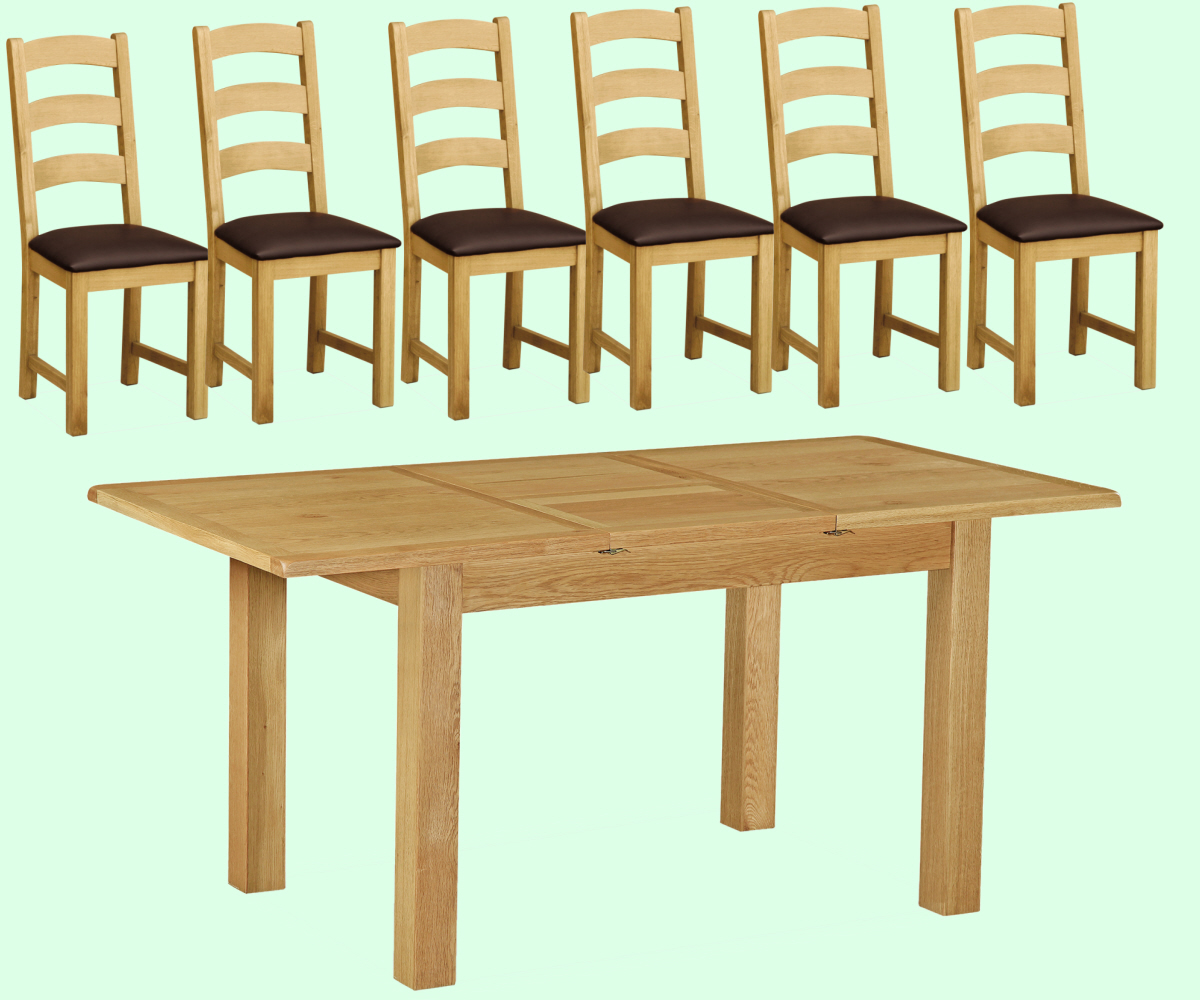 Intotal Little Baddow Compact Dining Set with 6 Chairs