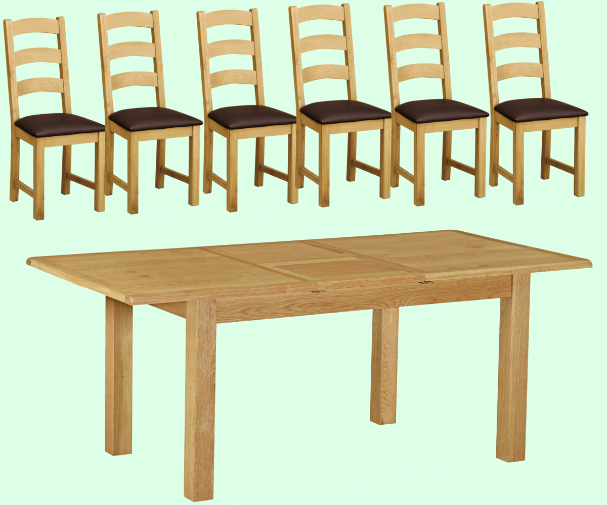Intotal Little Baddow Small Dining Set with 6 Chairs