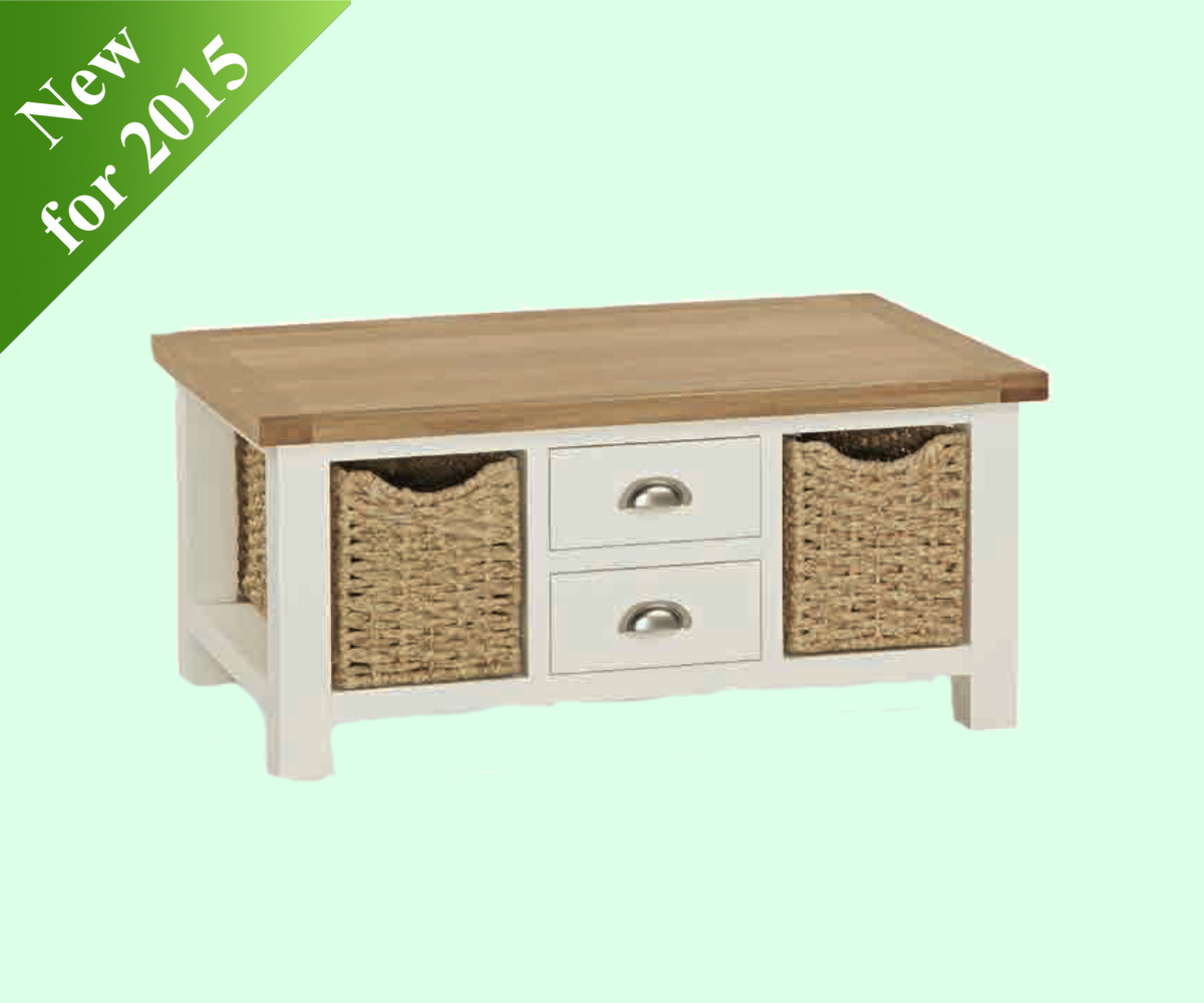 Intotal Sudbury Large Coffee Table with Baskets