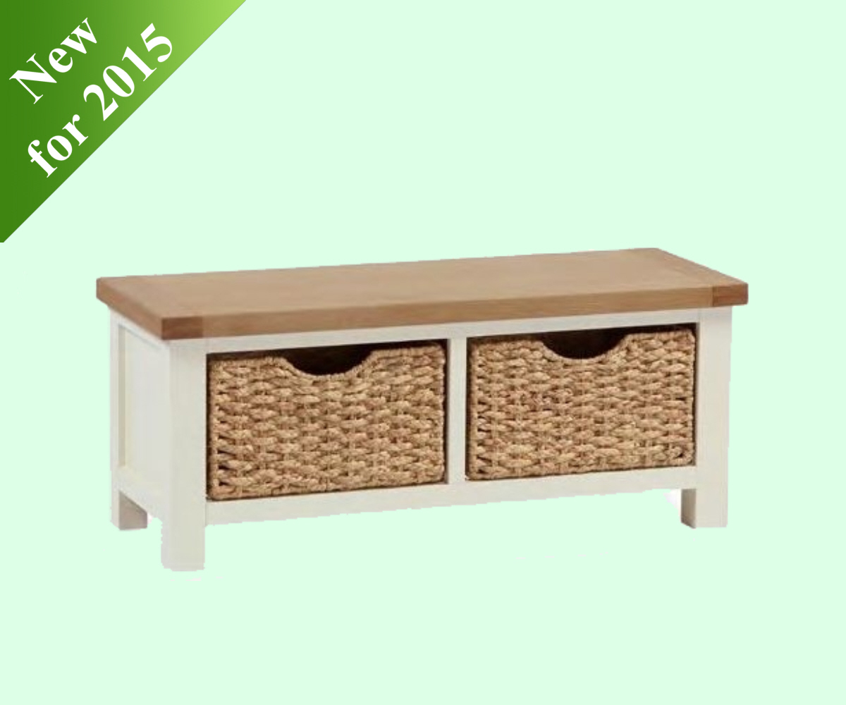 Intotal Sudbury Small Bench with Basket