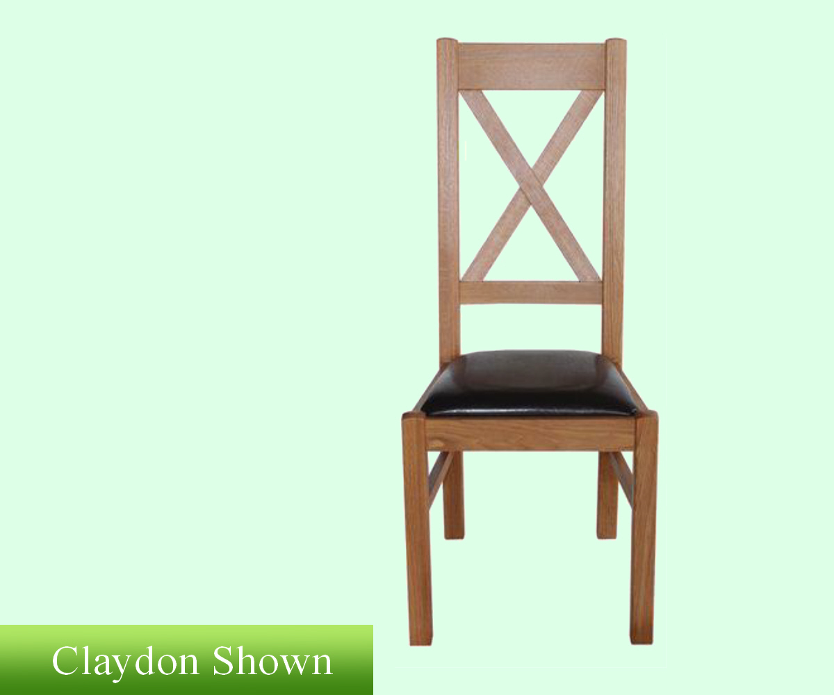 Intotal Walnut Cross Stick Dining Chair