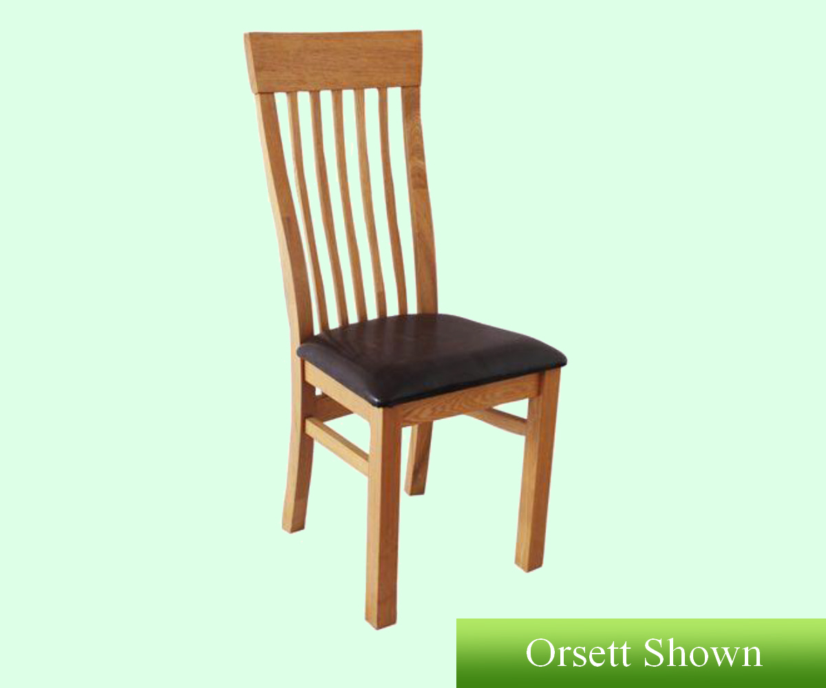 Intotal Walnut Curved Back Dining Chair