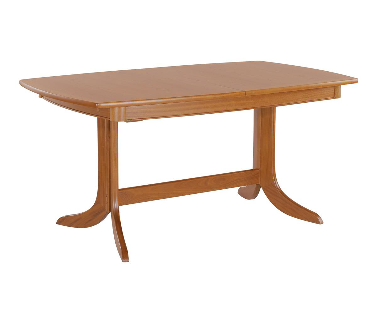 Nathan Classic Teak 2174 Extending Boat Shaped Pedestal Table