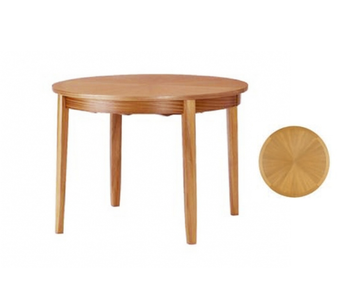 Nathan Classic Teak 2904 Circular Table on Legs Sunburst Top