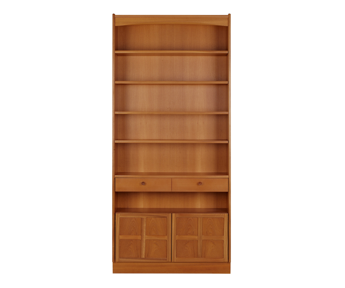 Nathan Classic Teak 6404 Tall Bookcase with Doors