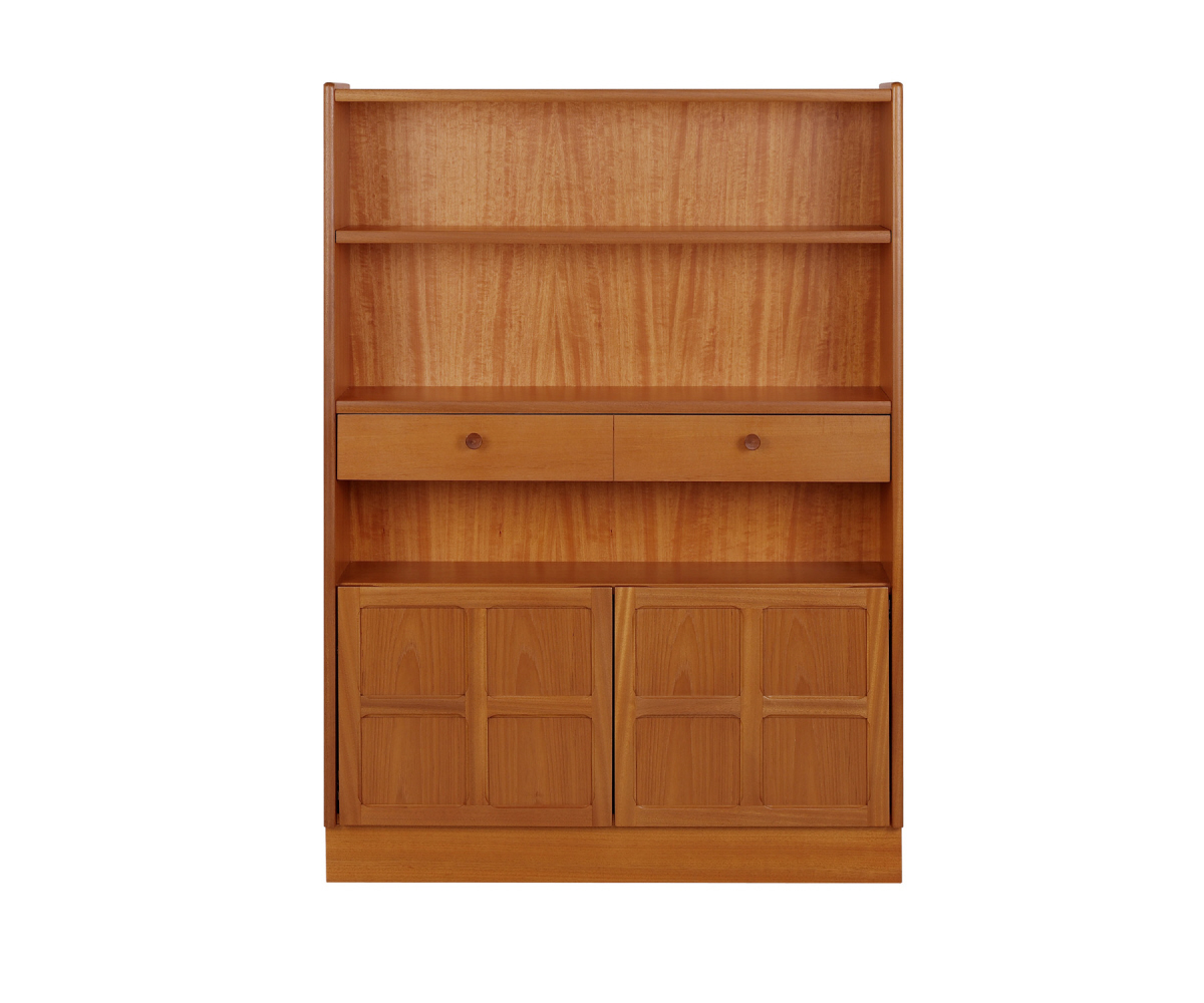 Nathan Classic Teak 6424 Medium Bookcase with Doors