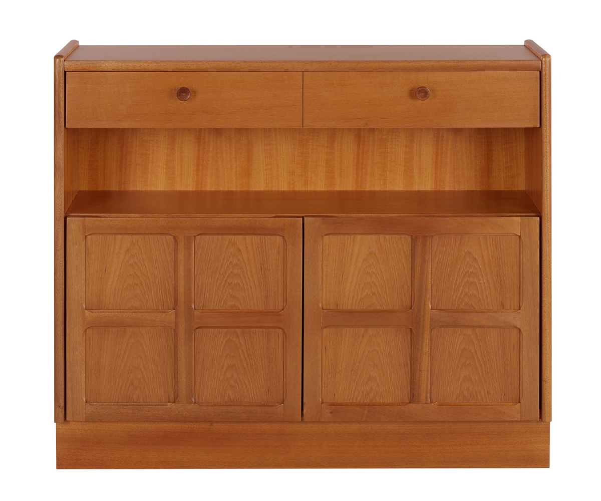Nathan Classic Teak 6444 Low Bookcase with Doors