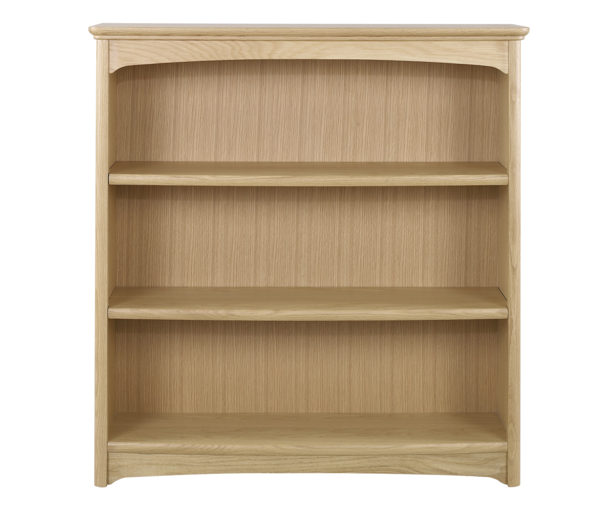Nathan Editions Oak 8993 Mid Double Bookcase