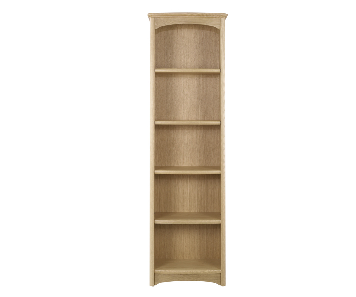 Nathan Editions Oak 8992 Tall Single Bookcase
