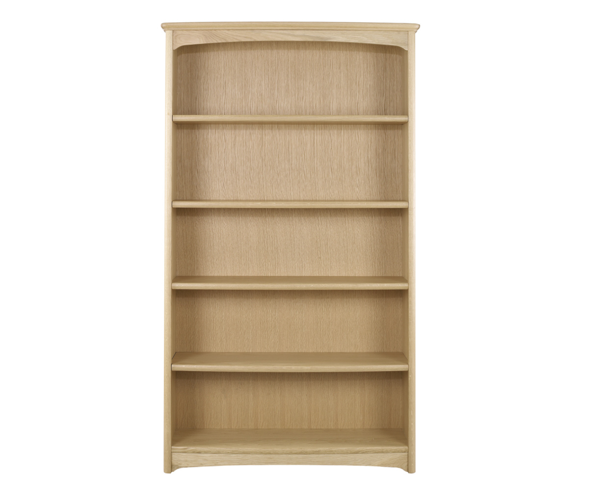 Nathan Editions Oak 8991 Tall Double Bookcase