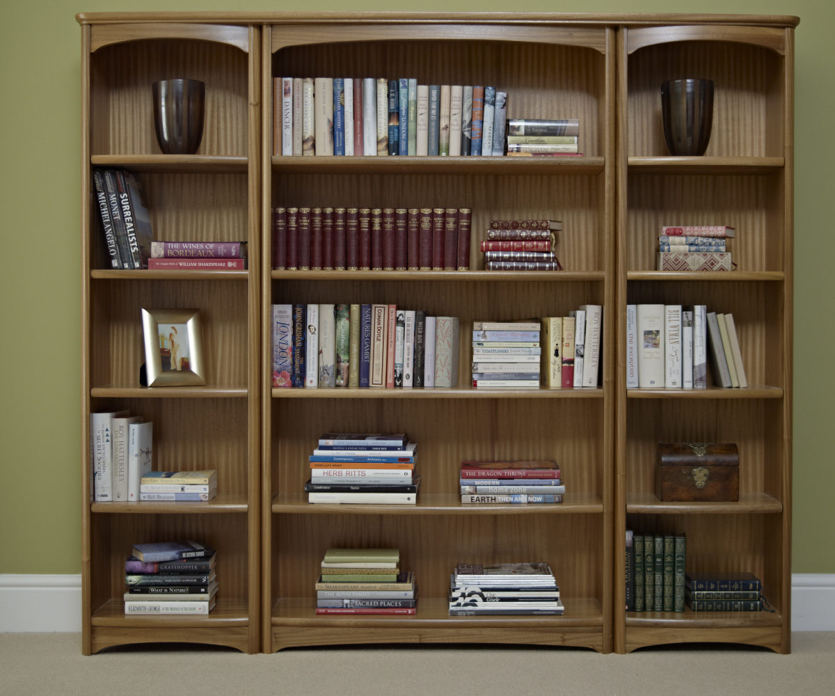 Nathan editions teak 6991 tall double bookcase bookcases - What did the wall say to the bookcase ...