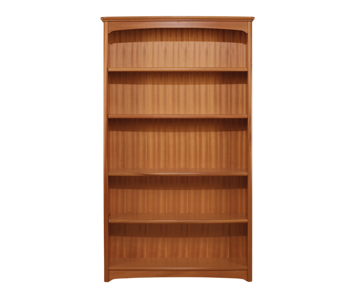 Nathan Editions Teak 6991 Tall Double Bookcase Bookcases Rg Cole Furniture Limited