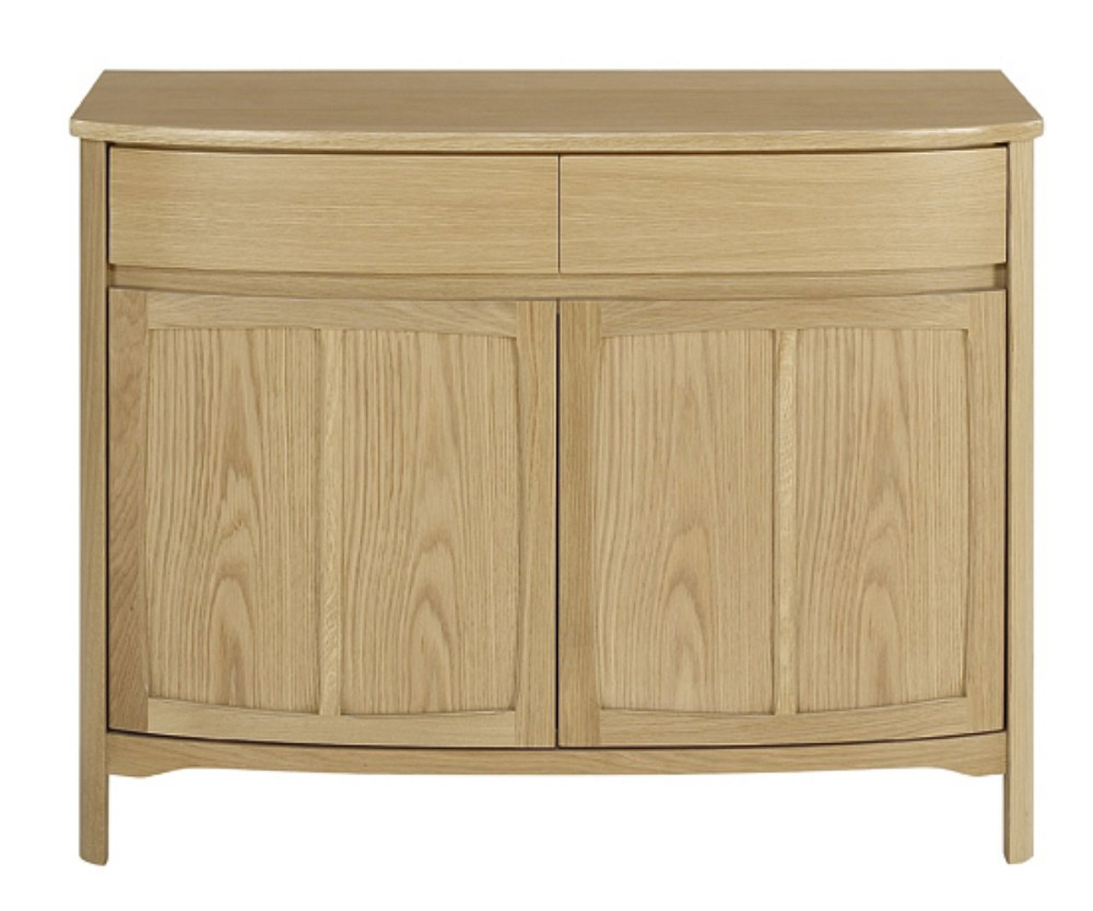 Nathan Shades Oak 1905 Shaped 2 Door Sideboard