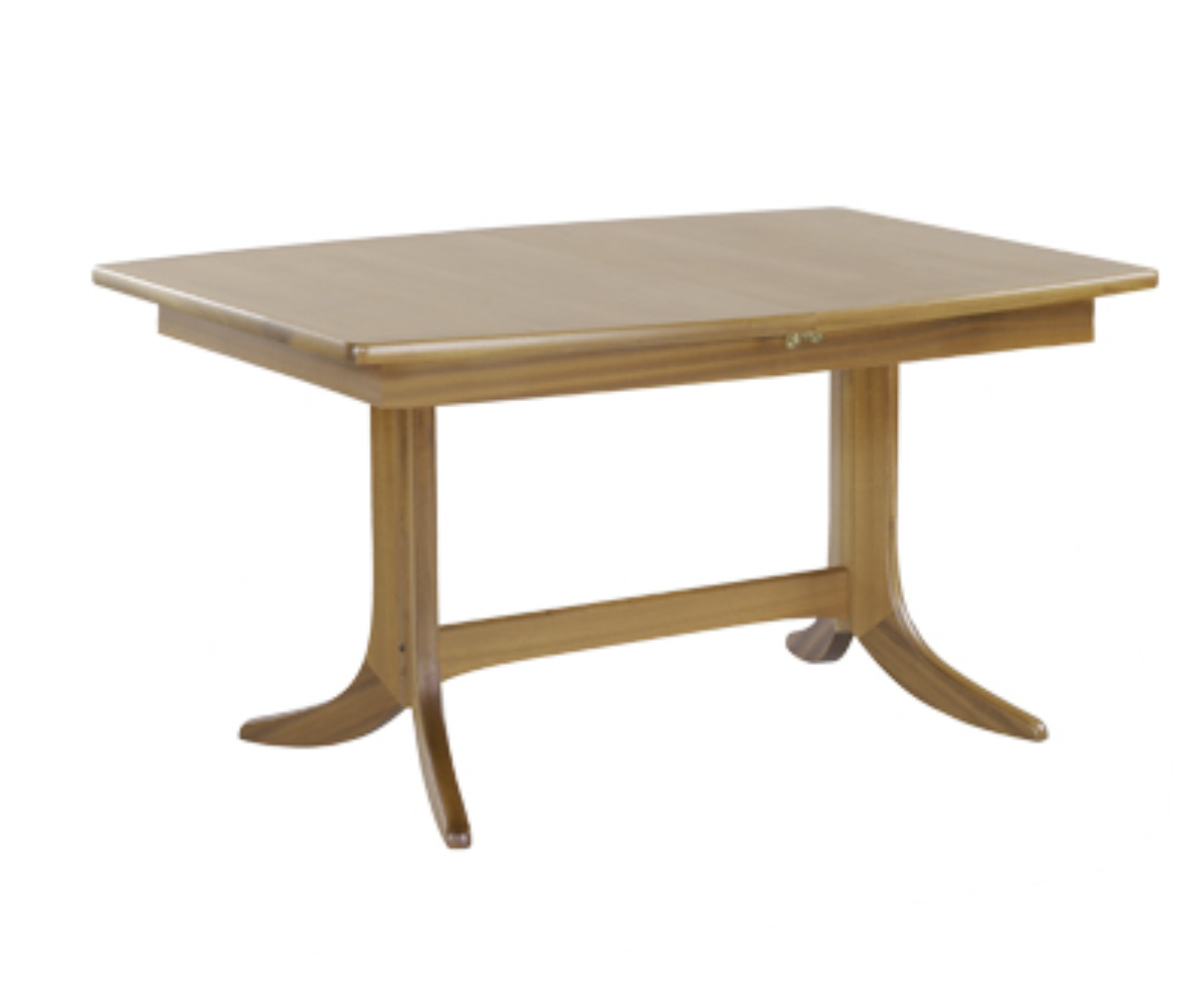 Nathan Shades Oak 2145 Small Boat Shaped Pedestal Dining Table