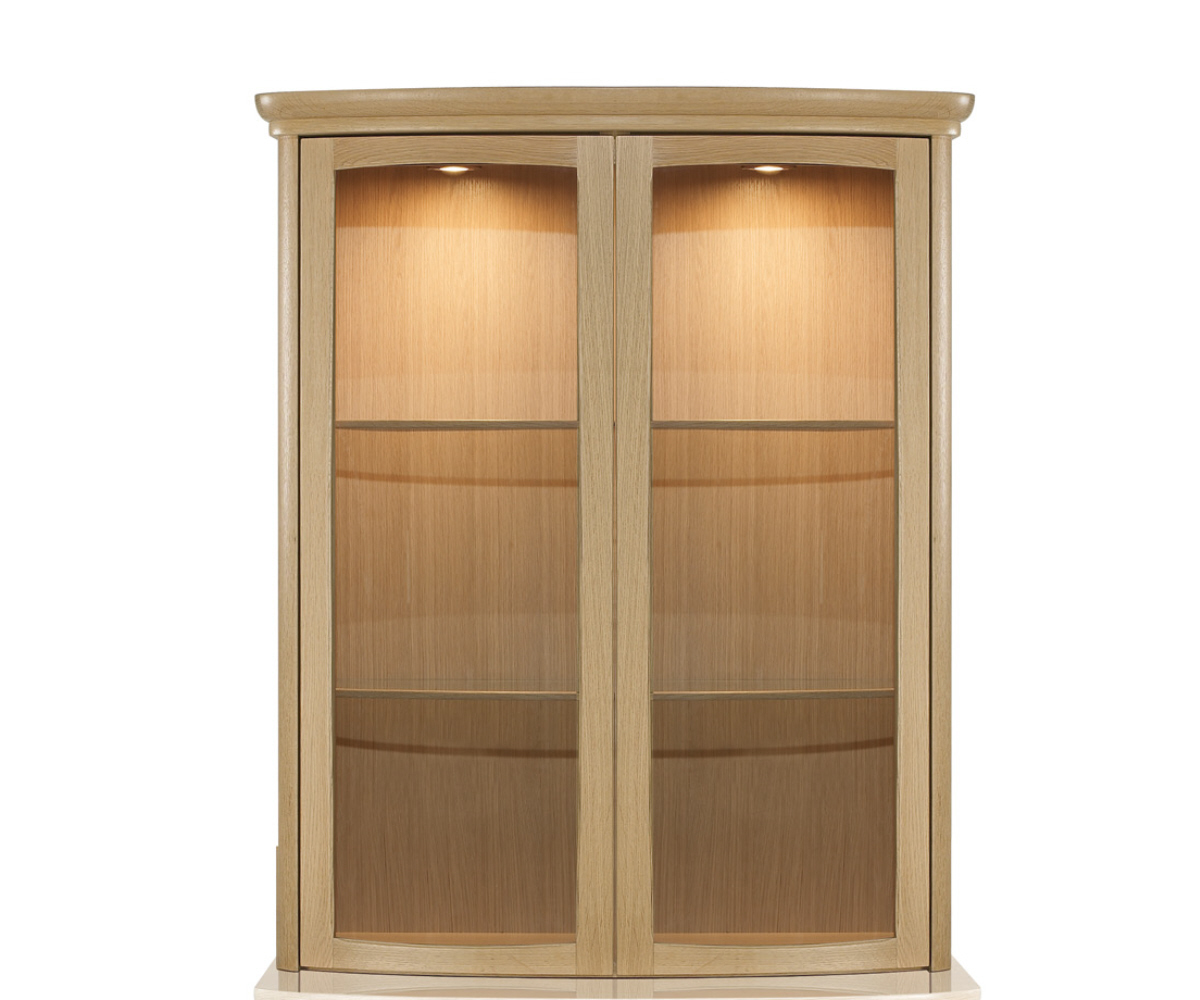 Nathan Shades Oak 4045 2 Door Shaped Display Top Unit