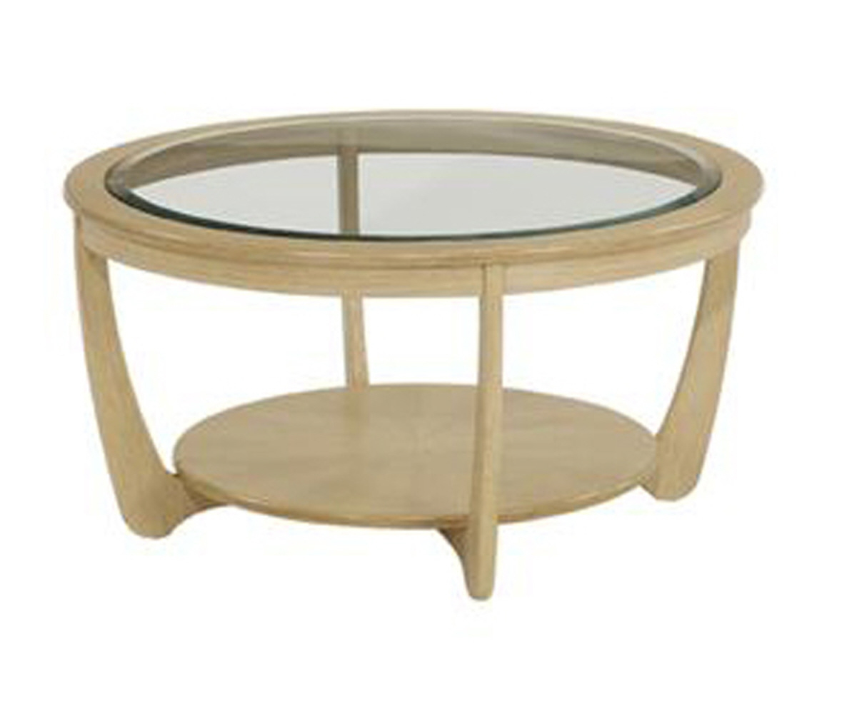 Nathan Shades Oak 5915 Glass Top Round Coffee Table Coffee Tables Rg Cole Furniture Limited