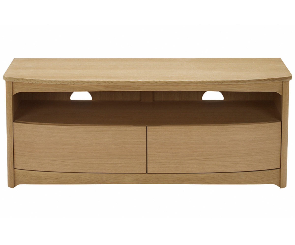 Nathan Shades Oak 5935 Shaped TV Unit with Drawers