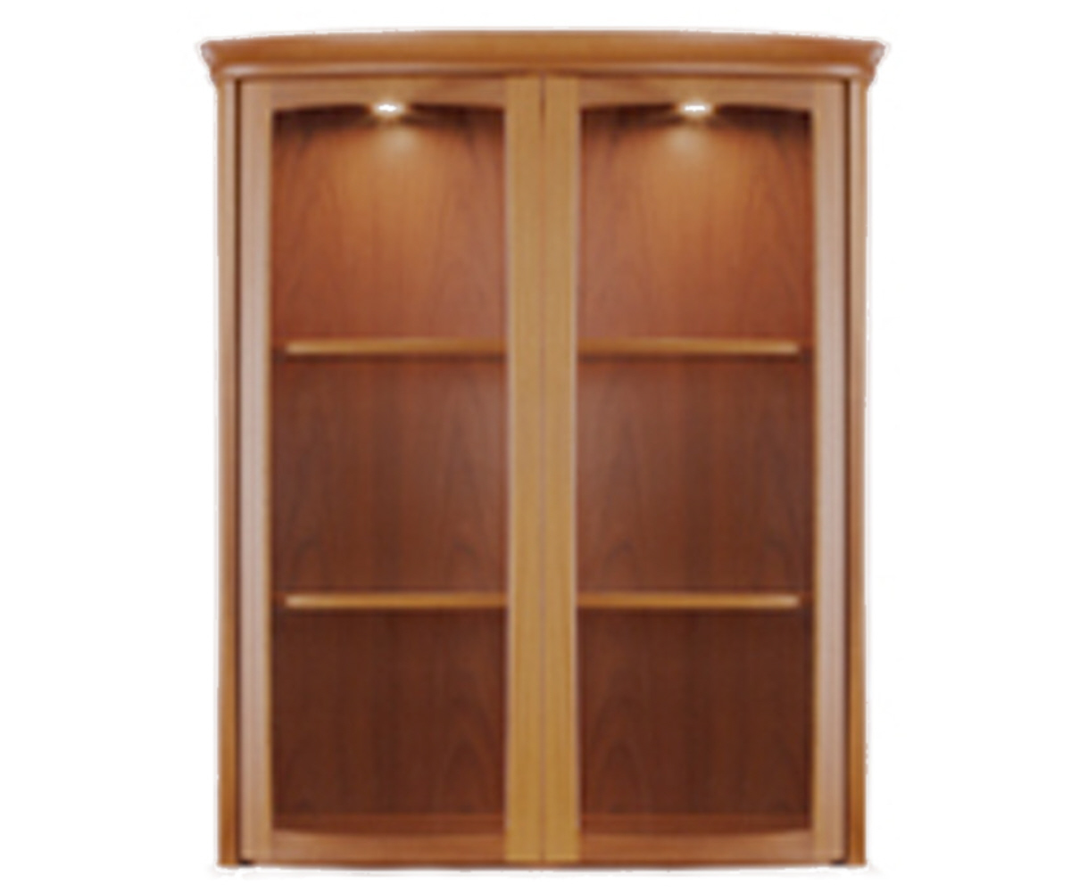 Nathan Shades Teak 4044 2 Door Shaped Display Top Unit