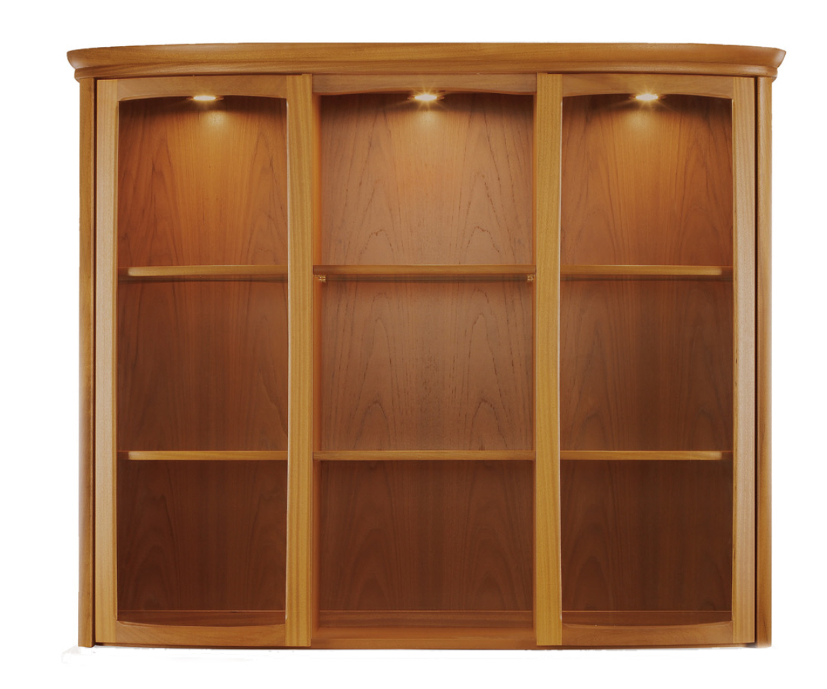 Nathan Shades Teak 4804 Shaped Glass Display Top Unit