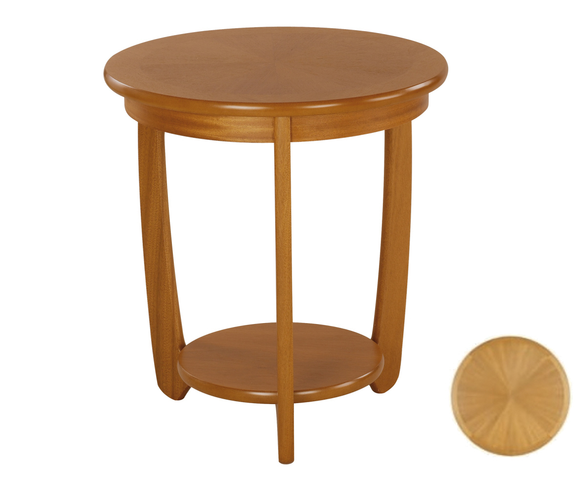 Nathan Shades Teak 5344 Large Sunburst Top Lamp Table