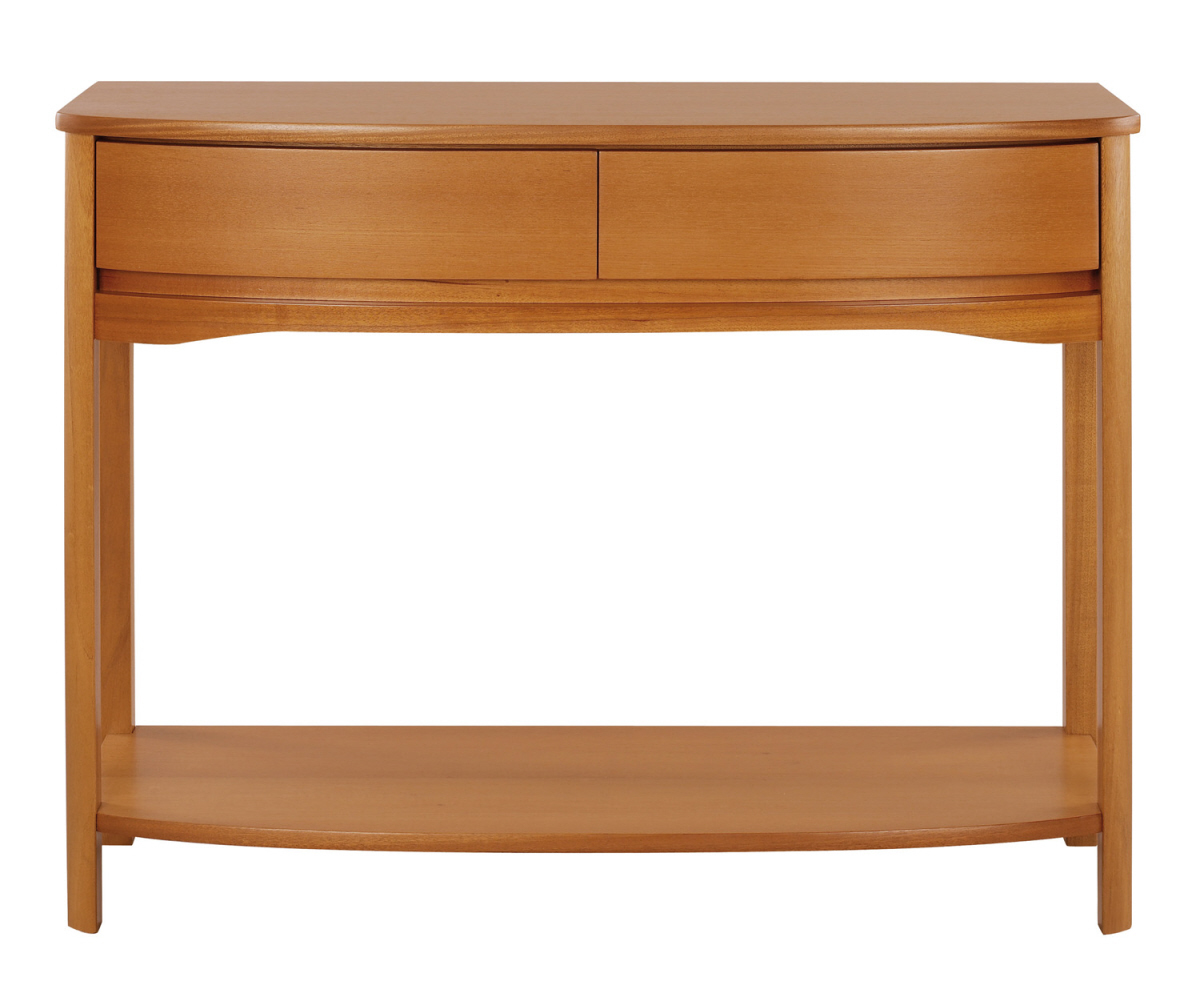 Nathan Shades Teak 5854 Shaped Console Table