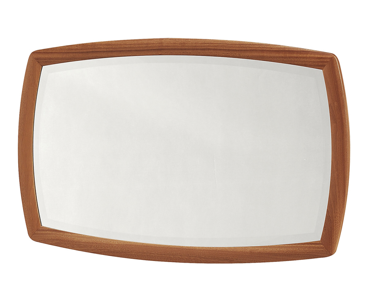 Nathan Shades Teak 5864 Shaped Wall Mirror